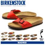 軽量で柔軟、履くほどに足に馴染むインソール♪<br>BIRKENSTOCK(ビルケンシュトック) マドリッド レディースサンダル 全11色 [細幅タイプ] 送料無料