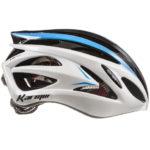アジアンフィットのアドバンスドモデル♪<br>Karmar(カーマー) FEROX(フェロックス) ホワイト/ブラック/ライトブルー ロードバイク ヘルメット 送料無料