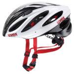 JCF公認ヘルメット♪<br>UVEX(ウベックス) BOSS RACE ホワイト/ブラック ロードバイク ヘルメット 送料無料