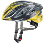 JCF公認ヘルメット♪<br>UVEX(ウベックス) BOSS RACE アンスラサイト/イエロー ヘルメット 送料無料