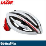 ロールシスを最初に採用したベストセラーモデル♪<br>LAZER(レイザー) ジェネシス レッド/ホワイト ロードバイク ヘルメット 送料無料