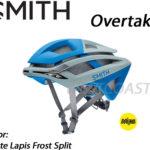 2017年モデル 安全性をさらに高めるMIPS搭載モデル♪<br>SMITH(スミス) Overtake Mips搭載 Mat lapis Front Split ロードバイク ヘルメット 送料無料