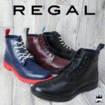 実用性とファッション性を両立♪<br>REGAL(リーガル) メンズ レインシューズ 71HR RAIN SHOES ウイングチップ レースアップ 送料無料