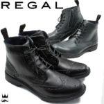 華やかなウイングチップが印象的♪<br>REGAL(リーガル) メンズ 紳士靴 レインシューズ 81JR レースアップシューズ ウイングチップ レインブーツ 送料無料