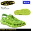 革命的かつユニークなフットウェア♪<br>KEEN(キーン) メンズ サンダル UNEEK ユニーク M GREEN GLOW 1013848