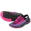 素足はもちろん、靴下と合わせたコーデもオシャレ♪<br>KEEN(キーン) レディース UNEEK ユニーク スポーツサンダル オープンエアスニーカー サンダル ピンク 送料無料
