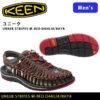 革命的かつユニークなフットウェア♪<br>KEEN(キーン) サンダル ユニーク ストライプス UNEEK STRIPES Red Dahlia Raya 1014620 メンズ 送料無料