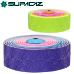 グリップと耐久性に優れたバーテープ♪<br>SUPACAZ(スパカズ) バーテープ SUPER STICKY KUSH マルチカラー (ネオン3色)