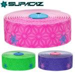 グリップと耐久性に優れたバーテープ♪<br>SUPACAZ(スパカズ) バーテープ スーパースティッキー KUSH プリント (ネオン2色)