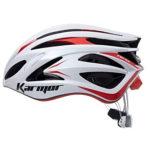 頭を包み込むような、優れたフィット感♪<br>Sshimano Karmar(シマノカーマー) FEROX2(フェロックス2) ホワイト/レッド ヘルメット Boaシステム搭載 送料無料