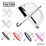 まるで鳥かごのようなドーム型が特徴♪<br>FULTON(フルトン) Birdcage-1 長傘 英国王室御用達ブランド ビニール傘 バードケージ
